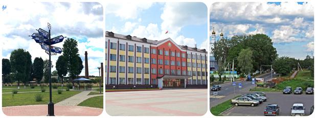 Улицы и центральная площадь Толочина